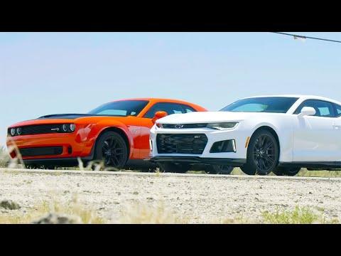 Head 2 Head FULL EPISODE | Dodge Challenger Hellcat Widebody vs Chevrolet Camaro ZL1—Episode 105