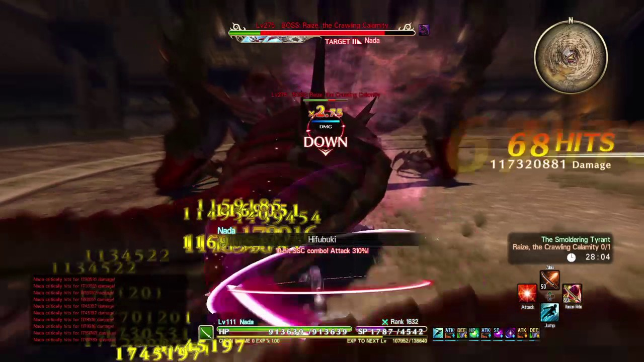 SWORD ART ONLINE: HOLLOW REALIZATION 9999 Dps build vs smoledring tyrant  Nightmare Mode
