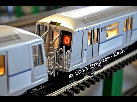 Model Railroad Train Scenery -EXCLUSIVE! MTH MTA NYC Transit 4-Car R40 Slant D Train Subway Set !