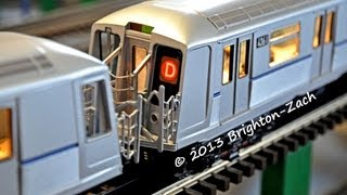 exclusive mth mta nyc transit r40 4 car d train subway set