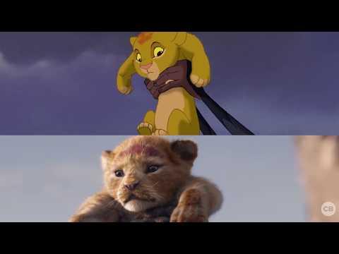 NEW Lion King Teaser vs. Original Movie - Side by Side Comparison