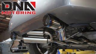 dna motoring nissan 350z infiniti g35 catback exhaust installation