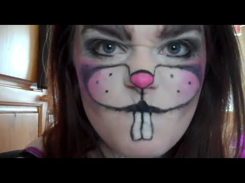 Scary easter bunny makeup tutorial - VEDA Day 25