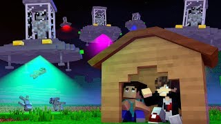 Minecraft: DESAFIO DA BASE 100% SEGURA CONTRA INVASÃO ALIENÍGENA  ‹ JUAUM ›