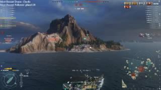World of Warships 0.5.15.0 - Akizuki Machinegun Fun: Fastest Guns in the East