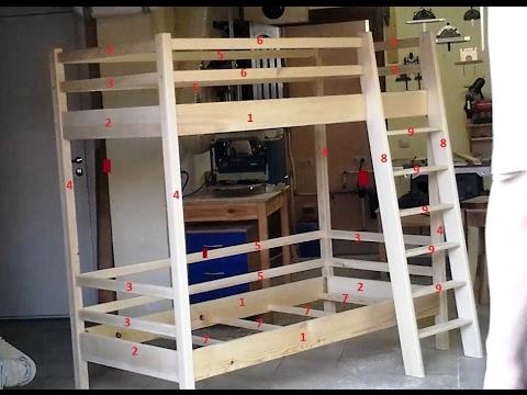 Детская двухярусная кровать, начало проекта