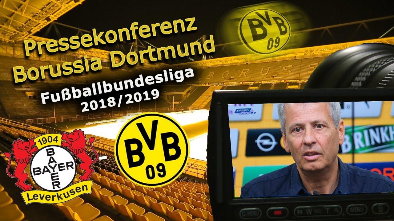 Bayer 04 Leverkusen - Borussia Dortmund: Pk mit Lucien Favre und Michael Zorc
