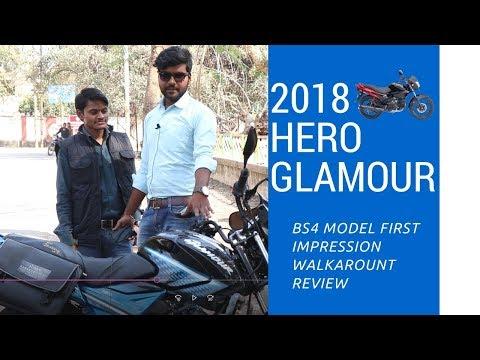 2018 HERO GLAMOUR | i3s | BS4 | First impression review || walkaround || ft BRAJRAJ