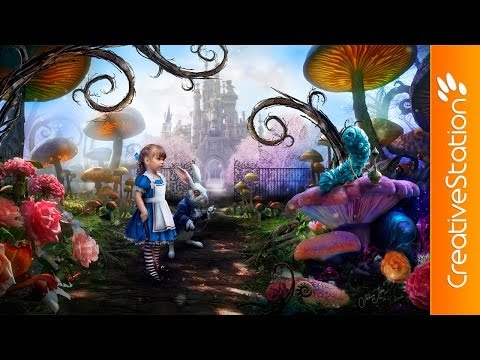 Alice in Wonderland - Speed art (#Photoshop) | CreativeStation