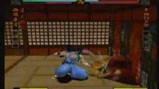 ポリサムことハイパーネオジオ64で出た侍魂64のコンボ動画前編。ニコ動のより少し画質が落ちちゃってます...。