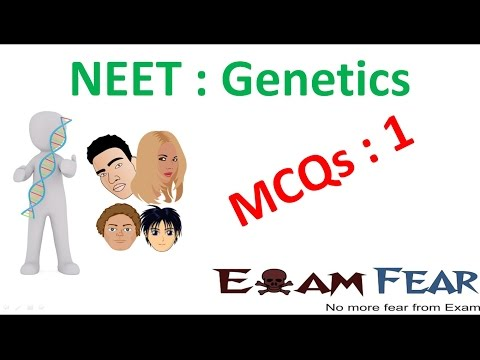 NEET Biology Genetics : Multiple Choice Previous Years Questions MCQs 1