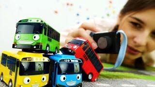 Видео для детей про машинки: Тайо и его друзья фотографируются