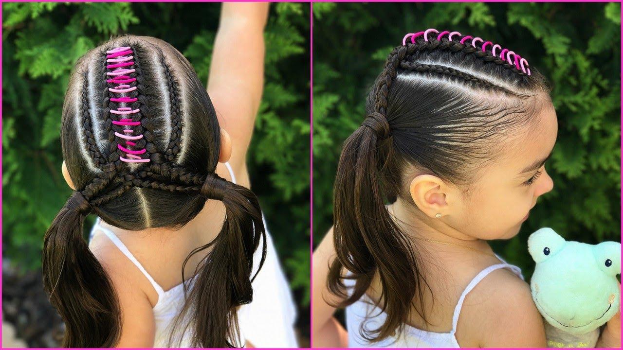 Ideas de estilo para peinados niñas Imagen de tutoriales de color de pelo - Peinado arcoiris y trenzas facil y rapido para niñas ...
