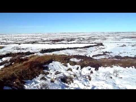Snow on North Yorkshire moors 9-2-15