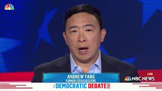 Democratic Debate: Andrew Yang Explains His Plan to Give $1,000 To Every American | NBC New York