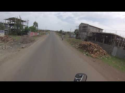 Driving through Ethiopia in Africa