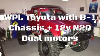WPL Toyota with B-1 chassis + 12v N20 Dual motors