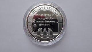 Belgium in WW I : The animals - silver coin of The Great War