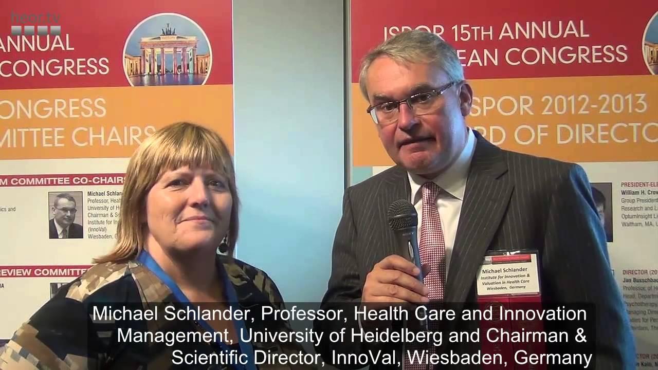 Michael Schlander on the highlights of ISPOR Berlin 2012