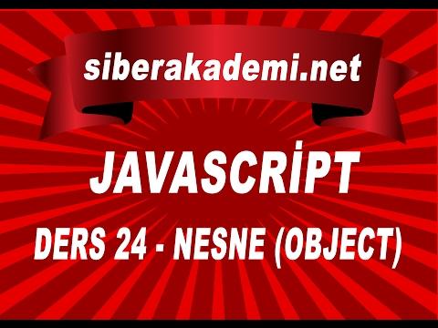 javascript dersleri 24  nesne object