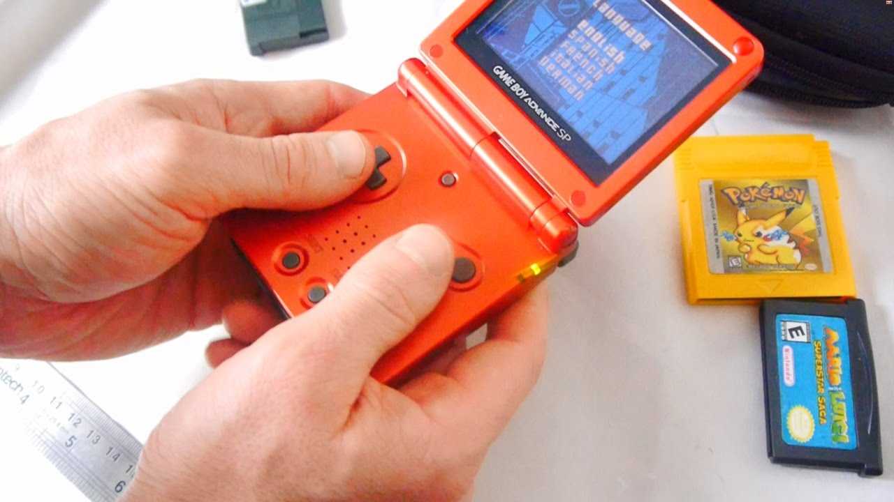 the gameboy advance sp the perfect game boy youtube