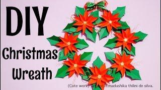 DIY Easy Christmas Wreath Decoration /How To Make Christmas Wreath Decoration/ Christmas Crafts