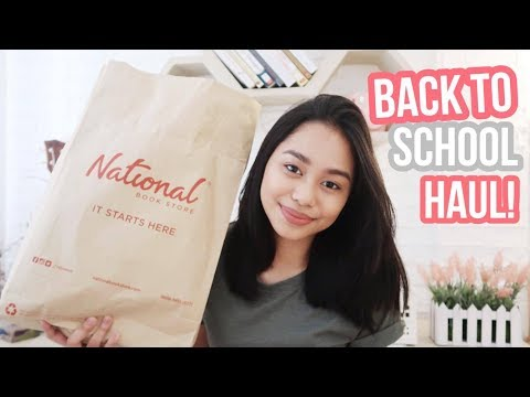 Back-to-School Haul 2017 + Giveaway! ft. National Book Store (Philippines) | ThatsBella