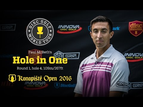 Paul McBeth's Hole-in-One @ Konopiste Open 2016, Round 1