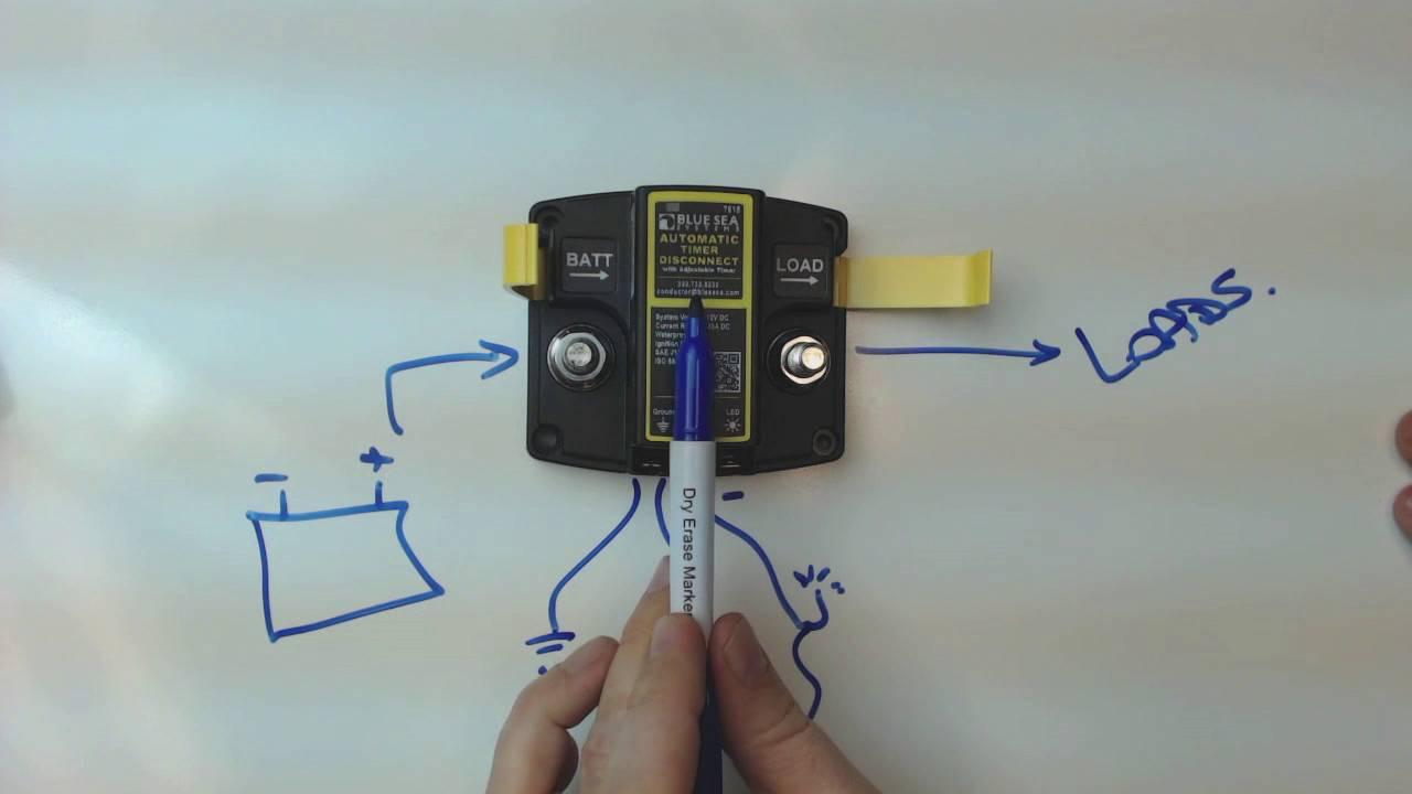 Desktop Demo - BlueSea 7615 Auto Timer Disconnect power timer - YouTube