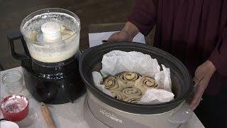 Making a cinnamon bun in a Crock Pot