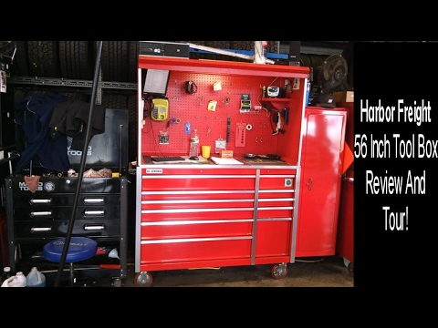 Harbor Freight 56 Inch Tool Box 1 year Review And Tour