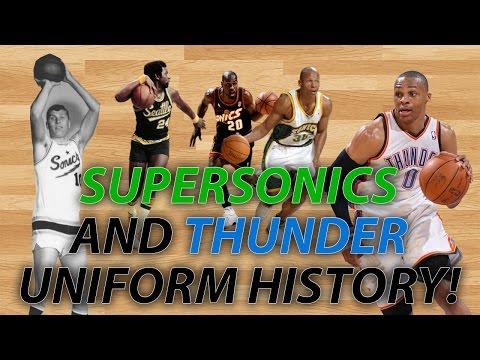 NBA Uniform History | Seattle SuperSonics & OKC Thunder Jerseys