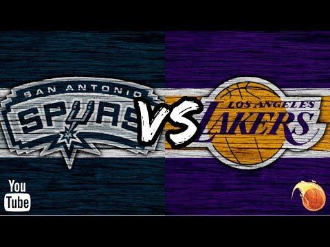 San Antonio Spurs vs LA Lakers - Melhores Momentos 22.10.2018 NBA