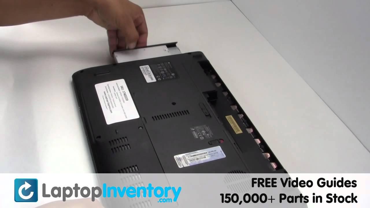 gateway nv55c nv59c dvd cd replacement install guide nv51b nv53a rh youtube com Gateway Laptop NV55C Gateway NV55C Replacement Screen