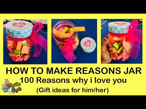 How To Make Reason Jar Gift Ideas Diy Gifts Sasithacrafts Youtube