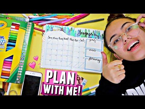 PLAN WITH ME! ✏️📅 | January 2018 Bullet Journal Setup