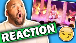 nicki minaj nba awards 2017 performance reaction