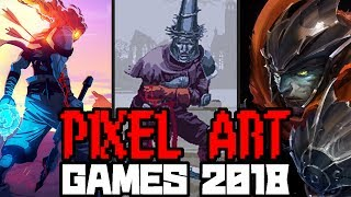 TOP TEN UPCOMING PIXEL ART GAMES 2017 - 2018