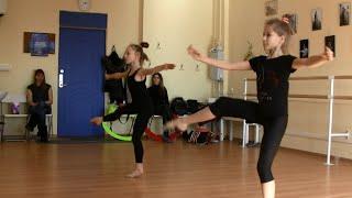Урок хореографии для спортсменок RG (художественной гимнастики). Вращения