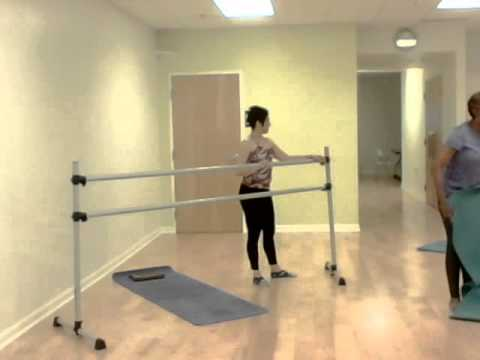 Fitness barre with small balls