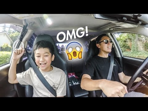 Scaring my Little Brother in my RWD WRX!