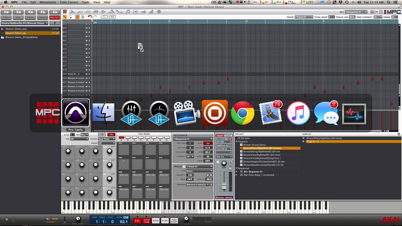 MPC Touch Tutorial - Audio/Midi Drag and Drop - MPCMasters com