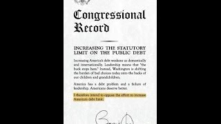 *2006 Senator Obama Refused 2 Raise The Debt Ceiling, Saying: Its a Leadership Failure & Weakens Us