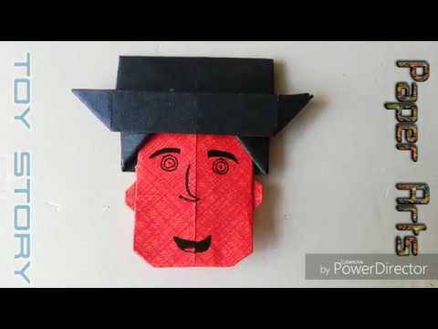 Paper Folding Art (Origami) How to Make Toy Story #paperartsandcraft
