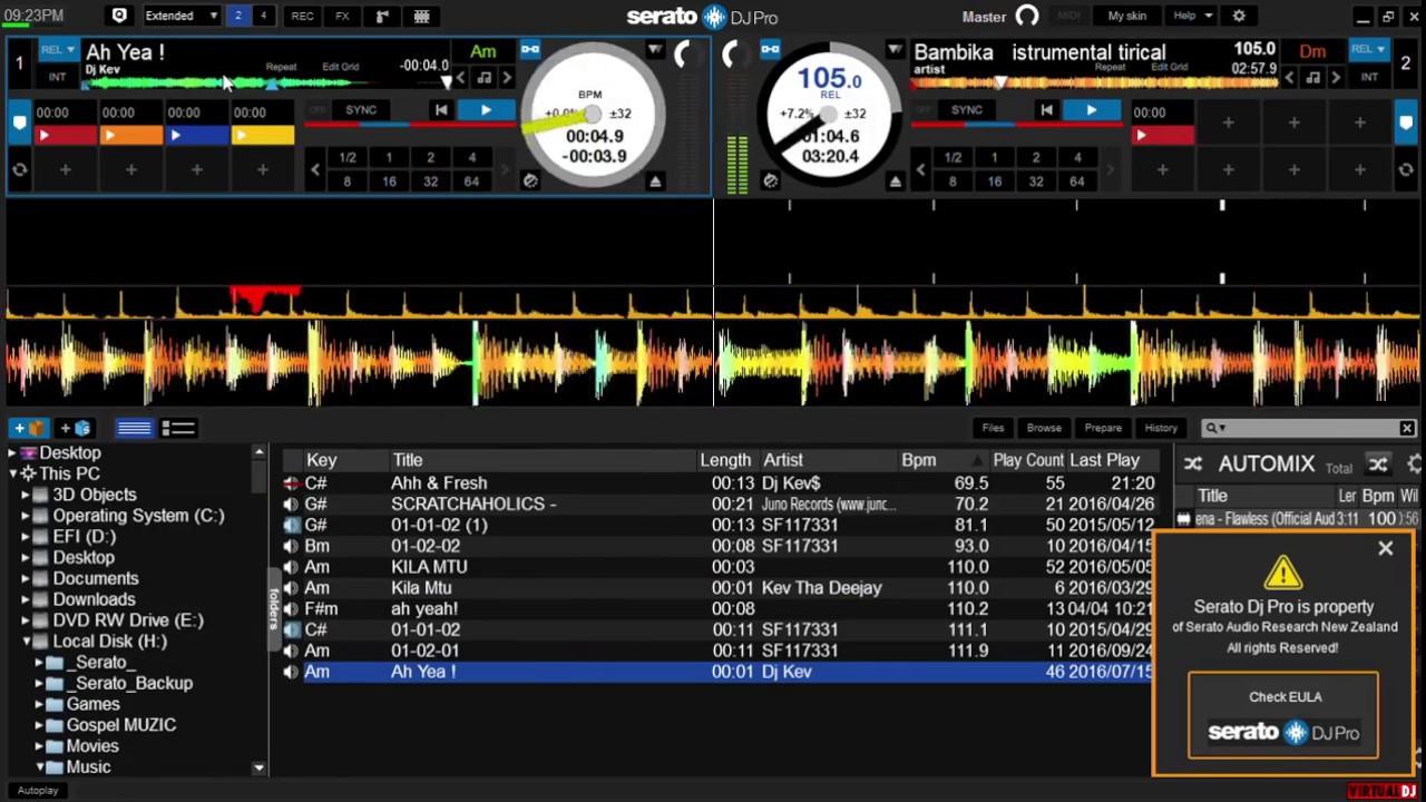 Serato Dj Pro 2 0 skin For Virtual Dj 8 2 With 4 decks