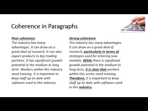 coherence-in-paragraphs