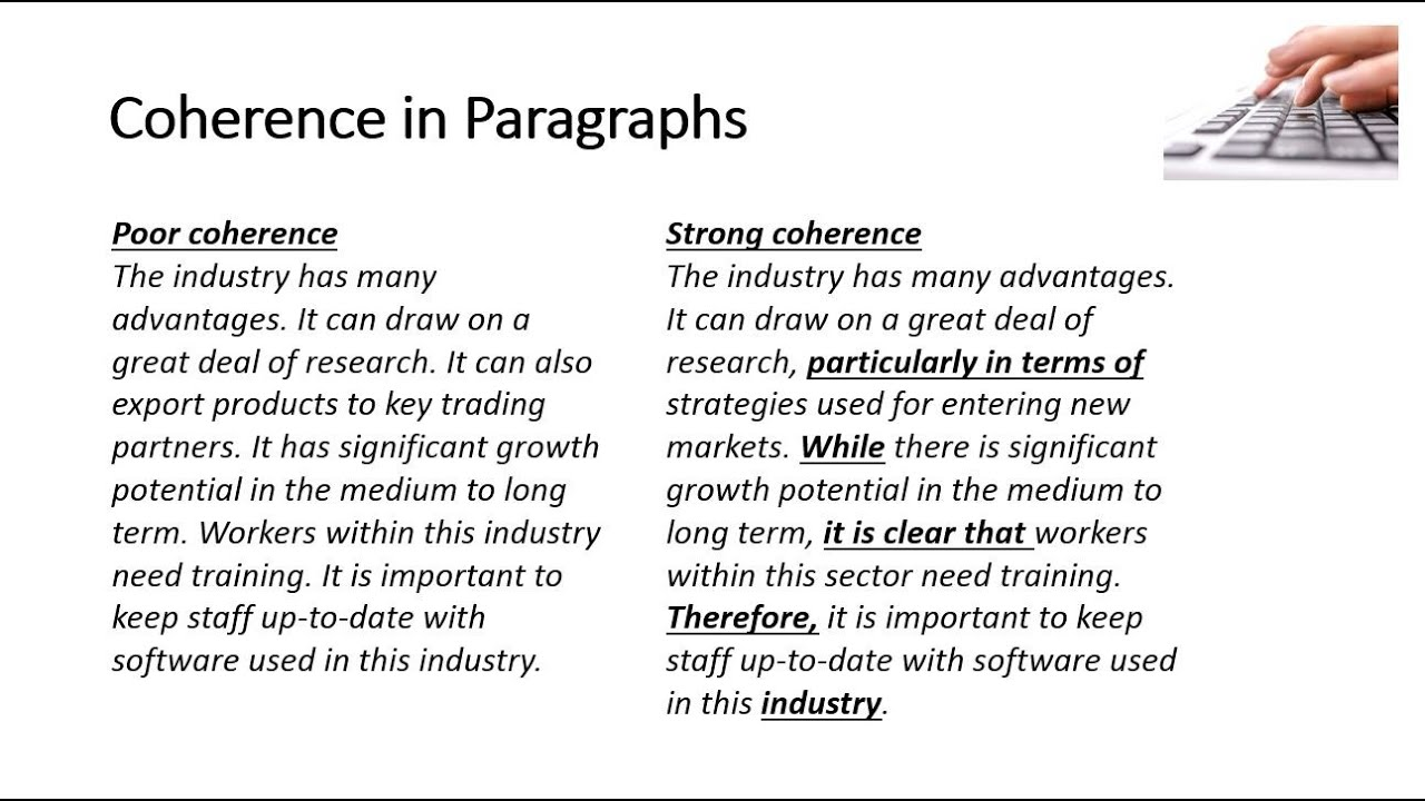 Coherence in Paragraphs