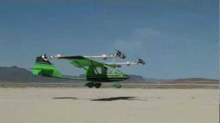 Tilt Rotor CGS Hawk - Early test flight of CGS Tilt Rotor Hawk with  60degree 09 MAY 09