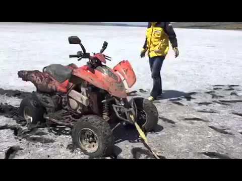 Куяльник, Квадроцикл Yamaha Raptor 700 в минеральной грязи