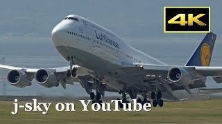 [4K] 2017 Spring - Lufthansa Boeing 747-430 [D-ABTL] at Kansai Airport / ルフトハンザ 関西国際空港 [DMC-FZH1]